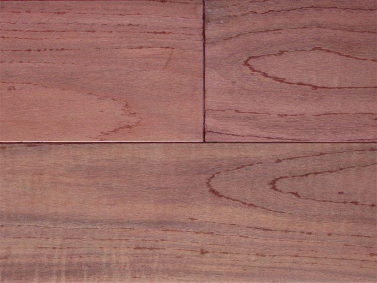 画像1: パープルハート無垢フローリングOPC・無塗装 1800×120×15 (1)