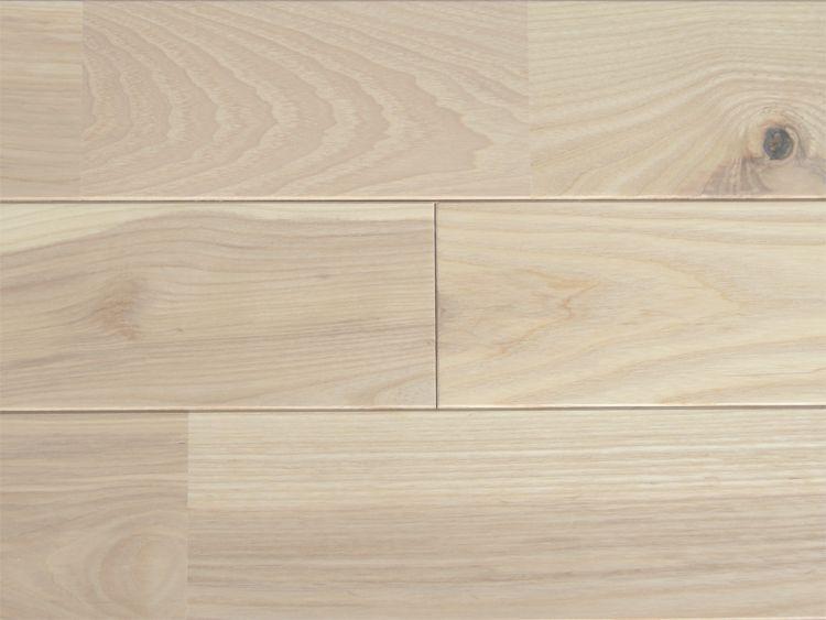 画像1: ホワイトアッシュ無垢フローリングUNI・Nグレード無塗装1820×90×15 (1)