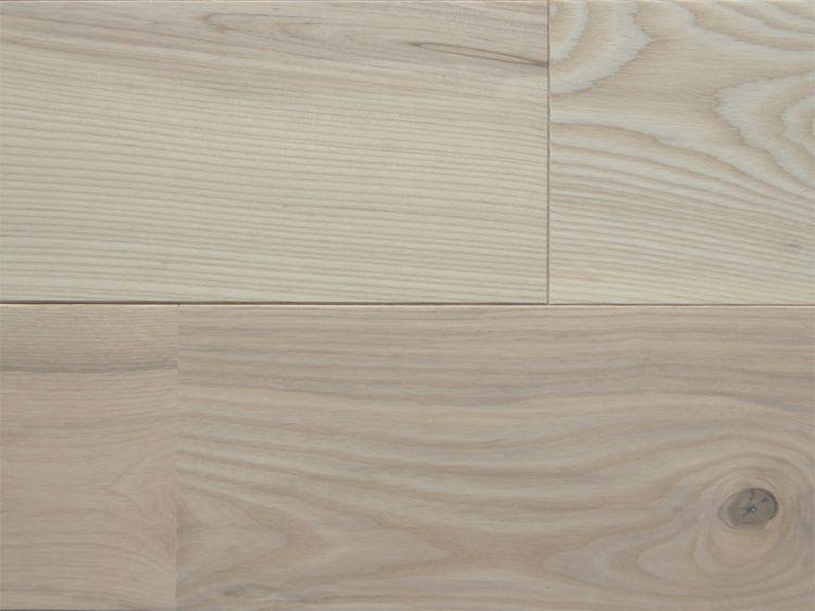 画像1: ホワイトアッシュ幅広無垢フローリングUNI・Nグレード無塗装1820×130×15 (1)