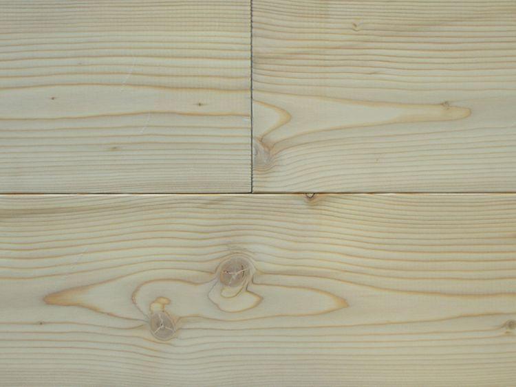 画像1: カラマツ無垢フローリングOPC・節有・無塗装1820×120×15 (1)