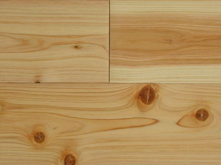 画像1: 桧無垢フローリングNグレード(節有) 無塗装1820×110×15 (1)