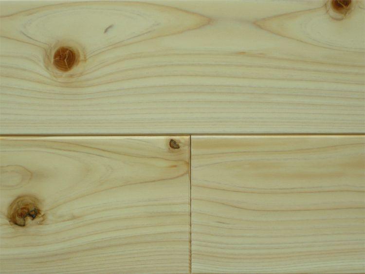 画像1: 桧無垢フローリング床暖房用 節有 ウレタン塗装クリア 1818×105×15 (1)