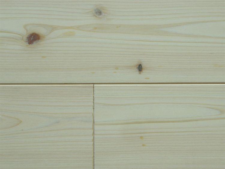 画像1: 桧無垢フローリング床暖房用 節有 無塗装 1818×105×15 (1)