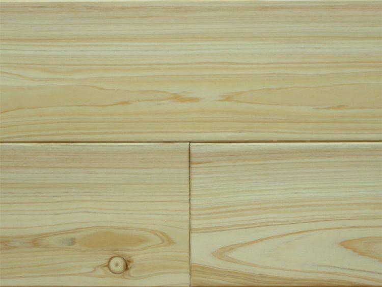 画像1: 桧無垢フローリング床暖房用 上小節  ウレタン塗装クリア 1818×105×15 (1)