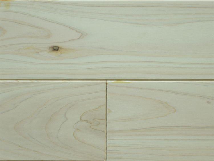 画像1: 桧無垢フローリング床暖房用 上小節  無塗装 1818×105×15 (1)