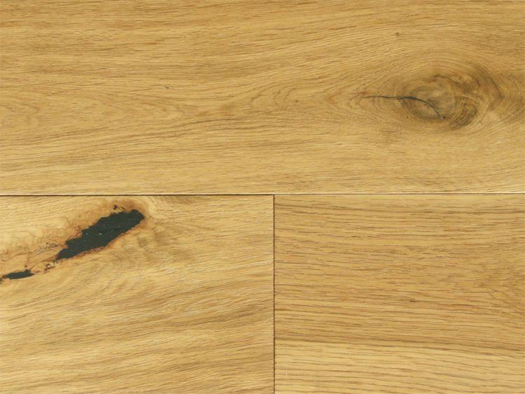 画像1: オーク複合フローリングNグレード・ブラッシング(うずくり) 床暖房対応 自然塗料塗装 1820×150×15 (1)