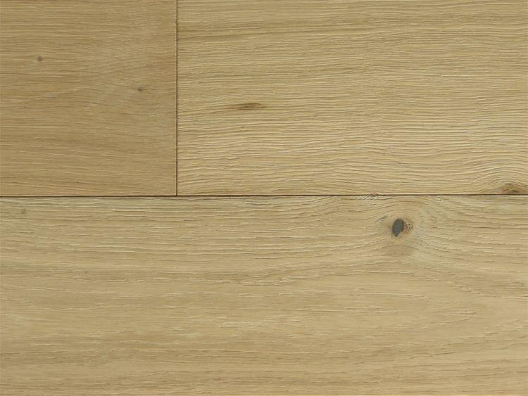 画像1: オーク複合フローリングNグレード・ブラッシング(うずくり) 床暖房対応 無塗装 1820×150×15 (1)