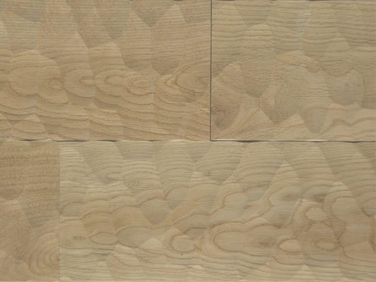 画像1: ナラ幅広無垢フローリングUNI・Sグレード スプーンカット 無塗装 1820×120×15 (1)