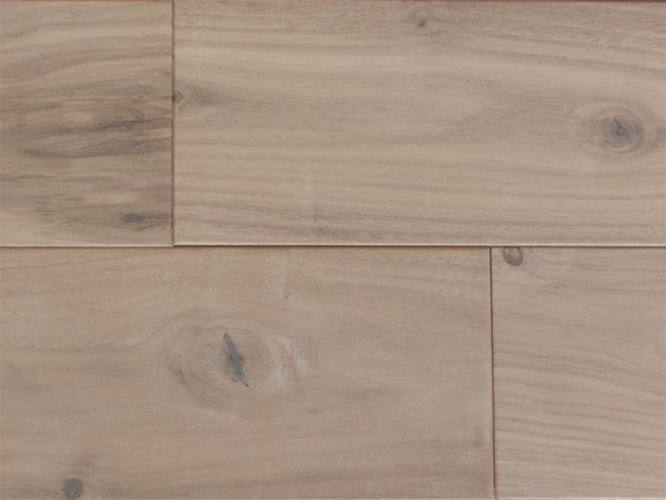 画像1: アメリカンブラックウォールナット無垢フローリング幅広・無塗装ラステック 乱尺×120×15 (1)