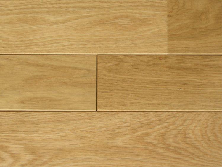 画像1: ナラ無垢フローリング床暖房用UNI・Sグレード・自然塗料塗装1818×90×15 (1)