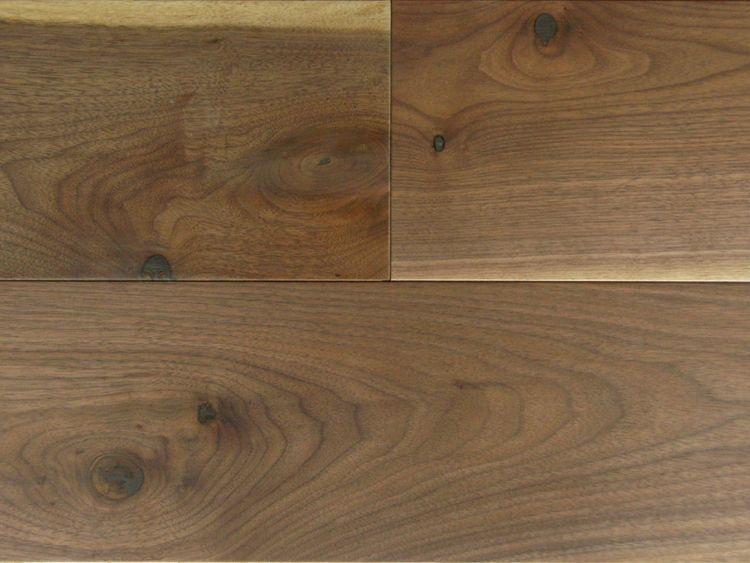 画像1: アメリカンブラックウォールナット三層フローリングNグレード 低温床暖対応 自然塗料塗装 1818×150×15 (1)
