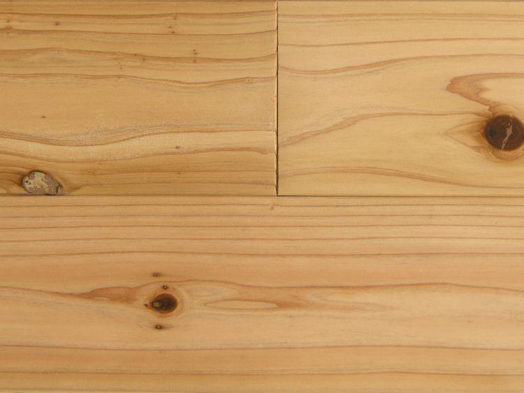 画像1: 杉(飫肥杉)無垢フローリングNグレード(節有) 無塗装1920×105×15 (1)