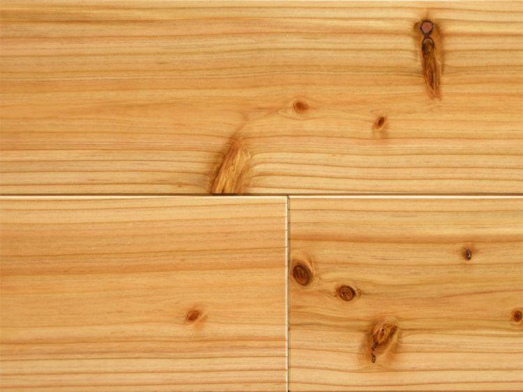 画像1: 杉(飫肥杉)無垢フローリング床暖房対応Nグレード(節有) ウレタンクリア塗装 1920×105×15 (1)