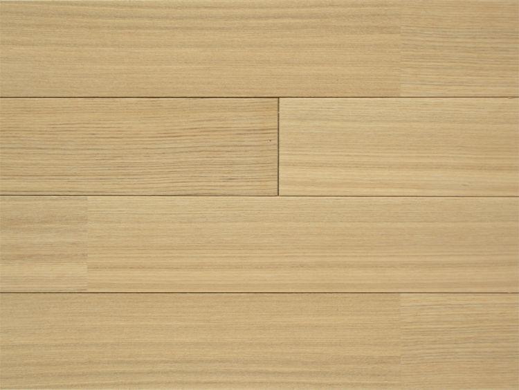 画像1: タモ無垢フローリング床暖房用・UNI・無塗装1820×75×15 (1)