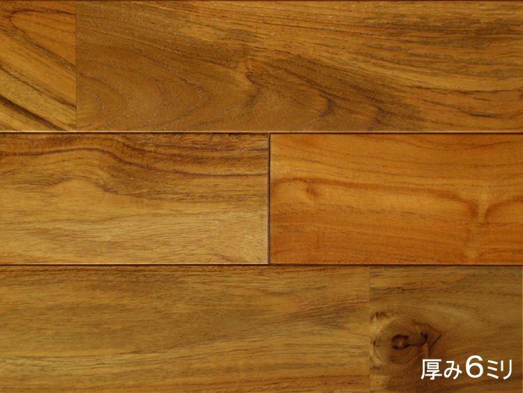 画像1: チーク無垢フローリング・リフォーム用UNI・ウレタン塗装クリア 910×90×6 (1)