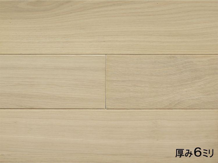 画像1: オーク無垢フローリング・リフォーム用OPC・無塗装 910×90×6 (1)