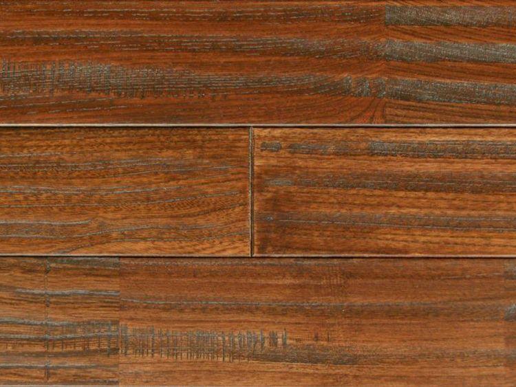 画像1: ケヤキ無垢フローリングUNIアンテーク・ウレタン塗装ダークブラウン色1820×90×15 (1)