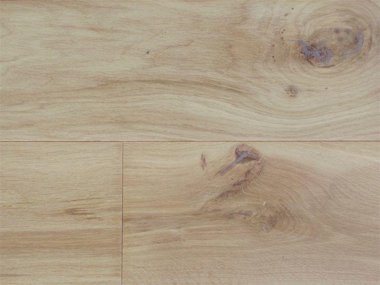 画像1: ヨーロピアンオーク幅広・無垢フローリング乱尺・無塗装Nグレード 乱尺×150×15 (1)