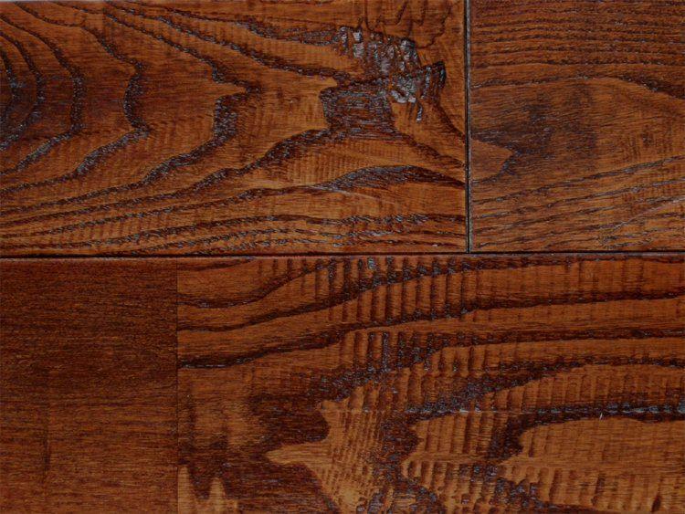 画像1: 栗アンティーク・無垢フローリング幅広・ウレタン塗装 ブラウン色1820×120×15 (1)