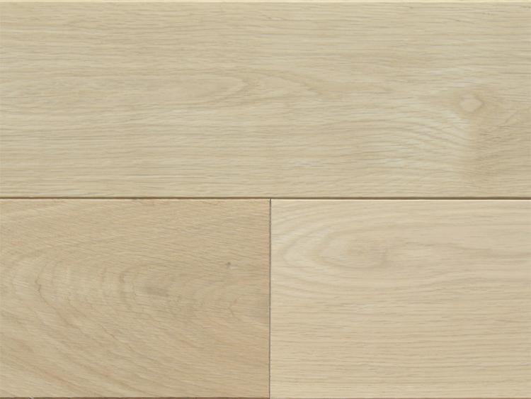 画像1: 北海道産ナラ幅広・無垢フローリング乱尺・無塗装 乱尺×120×15 (1)