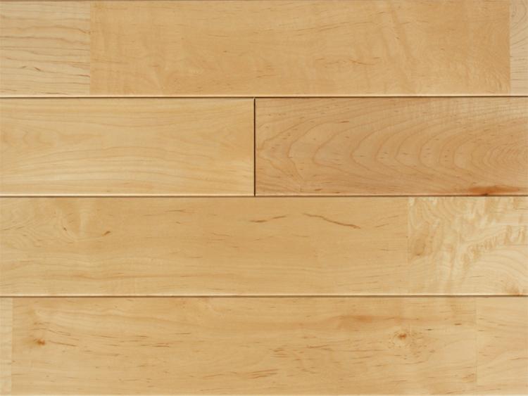 画像1: メープル無垢フローリングUNI・床暖房用・ウレタン塗装1818×75×15 (1)