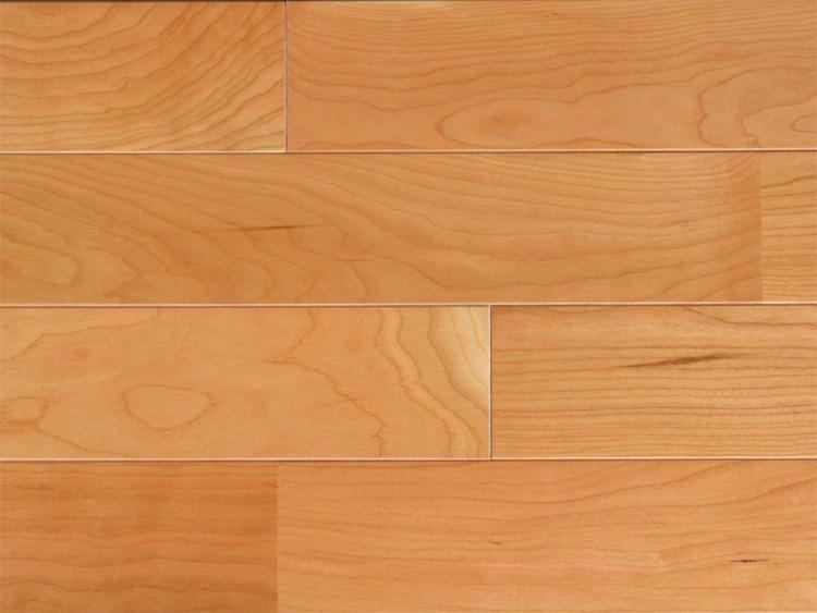 画像1: アメリカンブラックチェリー無垢フローリング床暖房用UNI・ウレタン塗装1818×75×15 (1)