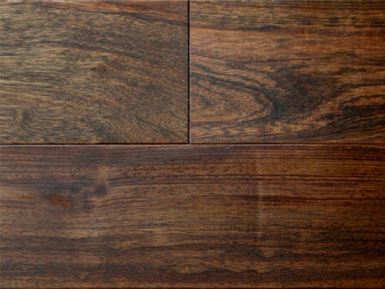 画像1: アジアンウォールナット無垢フローリング乱尺・自然塗料塗装 乱尺×120×15 (1)